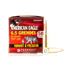Image For 50 Rounds Of 90 Grain JHP Boxer Brass 6.5 Grendel Federal Ammunition