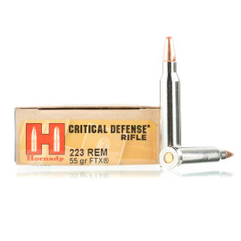 Image For 20 Rounds Of 55 Grain Polymer Tipped Boxer Nickel-Plated Brass 223 Rem Hornady Ammunition