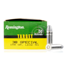 Image For 50 Rounds Of 158 Grain LRN Boxer Nickel-Plated Brass 38 Special Remington Ammunition