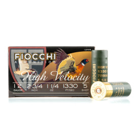 Image For 250 Rounds Of 1-1/4 oz. #5 Shot 12 Gauge Fiocchi Ammunition