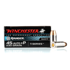 Image For 500 Rounds Of 230 Grain JHP Boxer Nickel-Plated Brass 45 Auto Winchester Ammunition