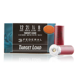 Image For 25 Rounds Of 1-1/8 oz. #8 Shot 12 Gauge Federal Ammunition
