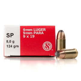 Image For 50 Rounds Of 124 Grain SP Boxer Brass 9mm Sellier and Bellot Ammunition