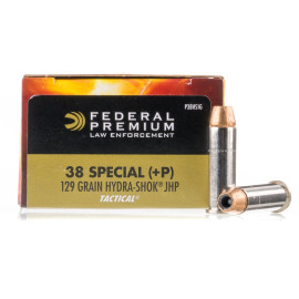 Image For 50 Rounds Of 129 Grain JHP Boxer Nickel-Plated Brass 38 Special Federal Ammunition