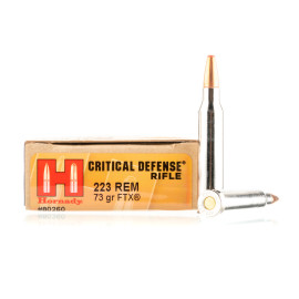 Image For 20 Rounds Of 73 Grain FTX Boxer Nickel-Plated Brass 223 Rem Hornady Ammunition