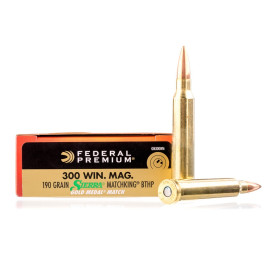 Image For 20 Rounds Of 190 Grain HPBT Boxer Brass 300 Win Mag Federal Ammunition