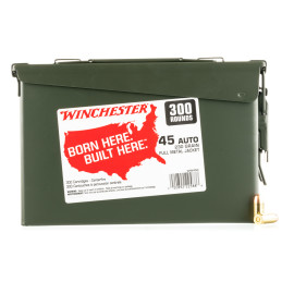 Image For 300 Rounds Of 230 Grain FMJ Boxer Brass 45 Auto Winchester Ammunition