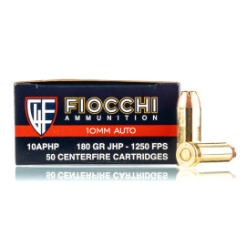 Image For 50 Rounds Of 180 Grain JHP Boxer Brass 10mm Fiocchi Ammunition