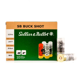 Image For 250 Rounds Of 1-1/8 oz. #00 Buck 12 Gauge Sellier and Bellot Ammunition