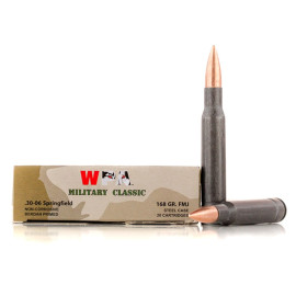 Image For 500 Rounds Of 168 Grain FMJ Berdan Steel 30-06 Wolf Ammunition