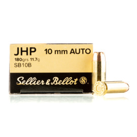 Image For 50 Rounds Of 180 Grain JHP Boxer Brass 10mm Sellier and Bellot Ammunition