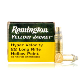 Image For 50 Rounds Of 33 Grain TC- HP Rimfire Brass 22 LR Remington Ammunition