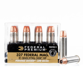 Image For 20 Rounds Of 85 Grain JHP Boxer Nickel-Plated Brass 327 Fed Mag Federal Ammunition