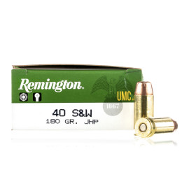 Image For 500 Rounds Of 180 Grain JHP Boxer Brass 40 Cal Remington Ammunition