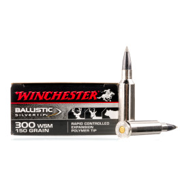 Image For 20 Rounds Of 150 Grain Polymer Tipped Boxer Nickel-Plated Brass 300 Win Short Mag Winchester Ammunition
