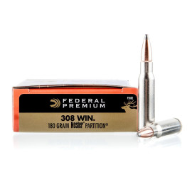 Image For 20 Rounds Of 180 Grain Nosler Partition Boxer Brass 308 Win Federal Ammunition