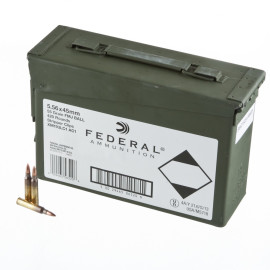 Image For 420 Rounds Of 55 Grain FMJ-BT Boxer Brass 5.56x45 Federal Ammunition