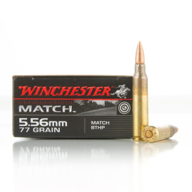Image For 20 Rounds Of 77 Grain HPBT Boxer Brass 5.56x45 Winchester Ammunition
