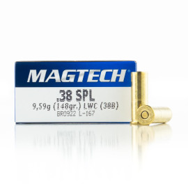 Image For 50 Rounds Of 148 Grain LWC Boxer Brass 38 Special Magtech Ammunition