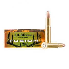 Image For 200 Rounds Of 170 Grain Fusion Boxer Brass 30-30 Federal Ammunition