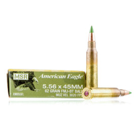 Image For 500 Rounds Of 62 Grain FMJ-BT Boxer Brass 5.56x45 Federal Ammunition