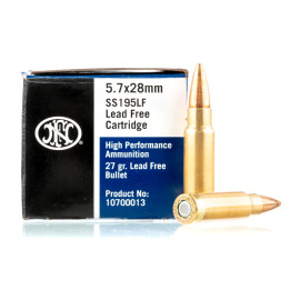 Image For 50 Rounds Of 27 Grain JHP Boxer Brass 5.7x28 FN Herstal Ammunition