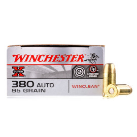 Image For 50 Rounds Of 95 Grain BEB Boxer Brass 380 ACP Winchester Ammunition