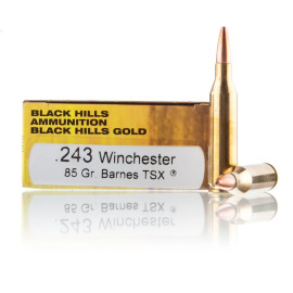 Image For 20 Rounds Of 85 Grain TSX Boxer Brass 243 Win Black Hills Ammunition Ammunition
