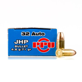 Image For 50 Rounds Of 71 Grain JHP Boxer Brass 32 ACP Prvi Partizan Ammunition