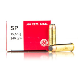 Image For 50 Rounds Of 240 Grain SP Boxer Brass 44 Magnum Sellier and Bellot Ammunition