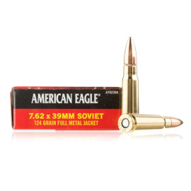 Image For 20 Rounds Of 124 Grain FMJ Boxer Brass 7.62x39 Federal Ammunition