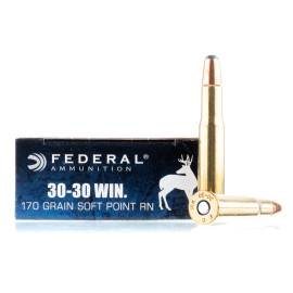 Image For 200 Rounds Of 170 Grain SP Boxer Brass 30-30 Federal Ammunition