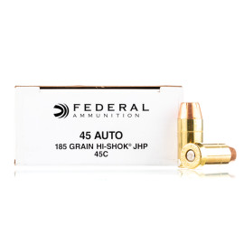Image For 50 Rounds Of 185 Grain JHP Boxer Brass 45 Auto Federal Ammunition