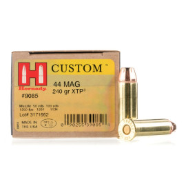 Image For 200 Rounds Of 240 Grain JHP Boxer Brass 44 Magnum Hornady Ammunition