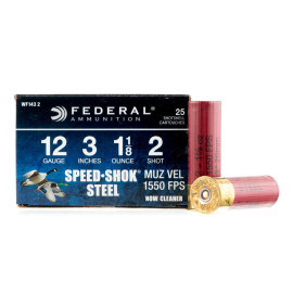 Image For 25 Rounds Of 1-1/8 oz. #2 Shot 12 Gauge Federal Ammunition