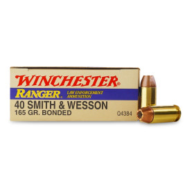 Image For 50 Rounds Of 165 Grain JHP Boxer Brass 40 Cal Winchester Ammunition
