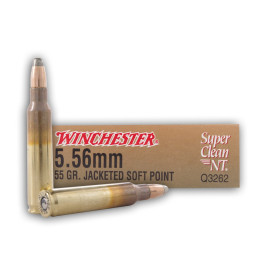 Image For 20 Rounds Of 55 Grain JSP Boxer Brass 5.56x45 Winchester Ammunition
