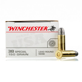Image For 50 Rounds Of 150 Grain LRN Boxer Brass 38 Special Winchester Ammunition