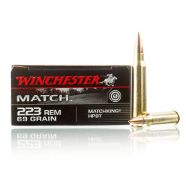 Image For 200 Rounds Of 69 Grain HPBT Boxer Brass 223 Rem Winchester Ammunition