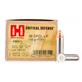Image For 25 Rounds Of 110 Grain JHP Boxer Nickel-Plated Brass 38 Special Hornady Ammunition