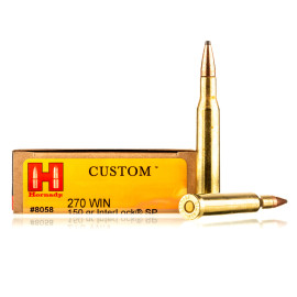 Image For 20 Rounds Of 150 Grain SP Boxer Brass 270 Win Hornady Ammunition