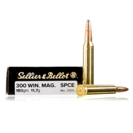 Image For 20 Rounds Of 180 Grain SPCE Boxer Brass 300 Win Mag Sellier and Bellot Ammunition