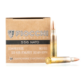 Image For 1000 Rounds Of 55 Grain FMJ-BT Boxer Brass 5.56x45 Fiocchi Ammunition