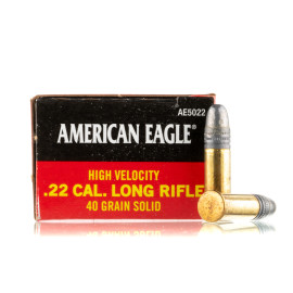 Image For 50 Rounds Of 40 Grain LRN Rimfire Brass 22 LR Federal Ammunition