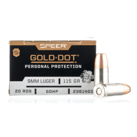 Image For 20 Rounds Of 115 Grain JHP Boxer Nickel-Plated Brass 9mm Speer Ammunition