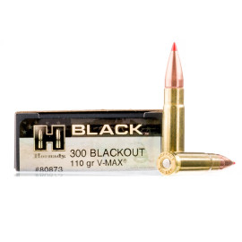 Image For 20 Rounds Of 110 Grain V-MAX Boxer Brass 300 Blackout Hornady Ammunition