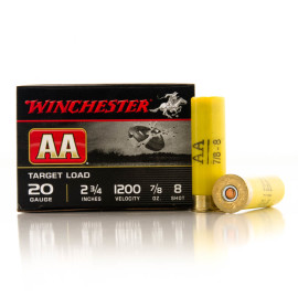 Image For 250 Rounds Of 7/8 oz. #8 Shot 20 Gauge Winchester Ammunition