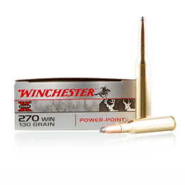 Image For 20 Rounds Of 130 Grain PP Boxer Brass 270 Win Winchester Ammunition