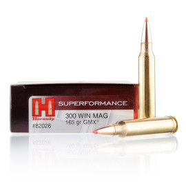 Image For 20 Rounds Of 165 Grain GMX Boxer Brass 300 Win Mag Hornady Ammunition