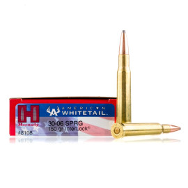 Image For 20 Rounds Of 150 Grain SP Boxer Brass 30-06 Hornady Ammunition